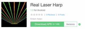 Laser harp android app